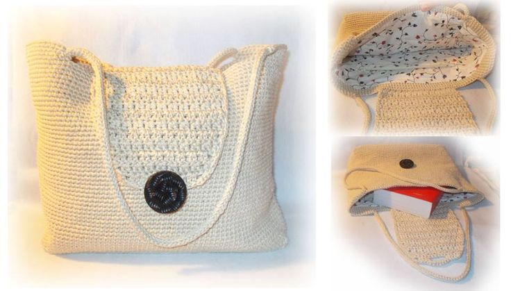 crochet bag with cotton yarn - handmade