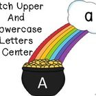 Free!! Letter matching center    Attach clouds to pot of gold with velcro....