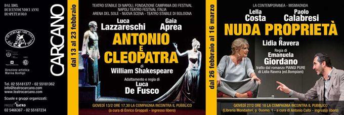 dal 26 febbraio al 16 marzo 2014 - http://www.teatrocarcano.com/it/scheda-spettacolo/711-nuda-proprieta