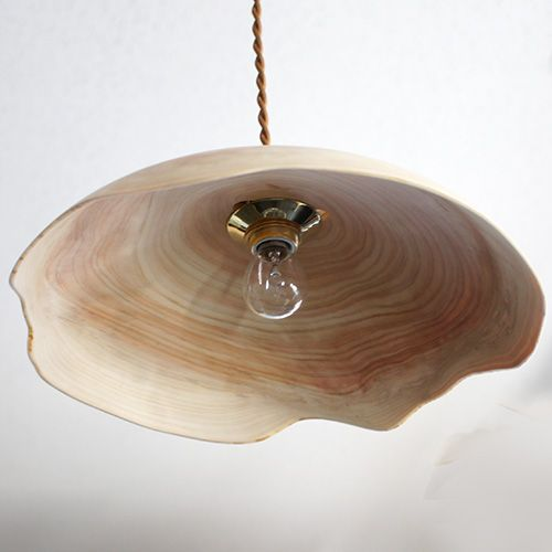 ヒノキのランプシェード