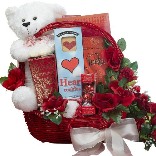 All My Love Chocolate Gift Basket With Teddy Bear - Romantic Valentine's Gift Basket - http://mygourmetgifts.com/all-my-love-chocolate-gift-basket-with-teddy-bear-romantic-valentines-gift-basket/