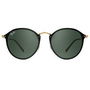cb77b153bebdb O Óculos de Sol Ray Ban Blaze Round RB3574N 001 71-59 é um