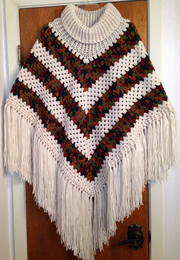 Free Crochet Patterns For Cowl Neck Poncho : 17 Best images about Ponchos & capes on Pinterest Poncho ...