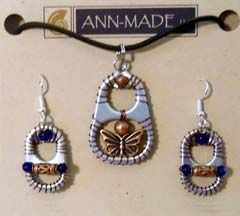 Ann-Made Soda Tab Pendants and Earrings