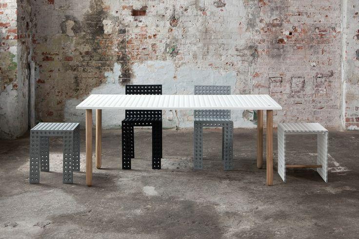 3+ system - Nowa Papiernia  photo: Jędrzej Stelmaszek  stool: https://shop.zieta.pl/pl,p,27,94,_stool.html  table: https://shop.zieta.pl/pl,p,27,100,_table.html  chairs: https://shop.zieta.pl/pl,p,27,96,_chair.html  open box: https://shop.zieta.pl/pl,p,27,93,_open_box.html