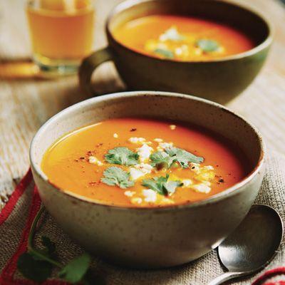 Potage de légumes d'automne et pommes rôtis / Un bon potage réconfortant et entièrement végé!