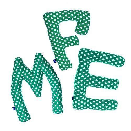 Stoffen Letter Groen voor kinderkamer!