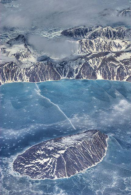 Paugnang Island, with Padloping Island to the North, Nunavut, Canada.