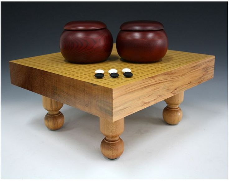 Go board Table game Oriental Traditional Japanese Baduk Game Floor Badook Stand