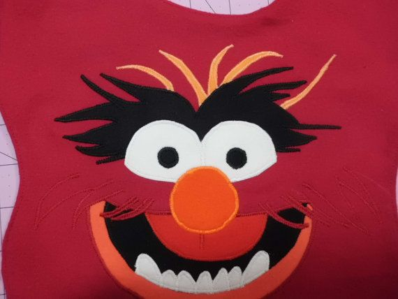 Animal Muppet Baby Bib Made to Order