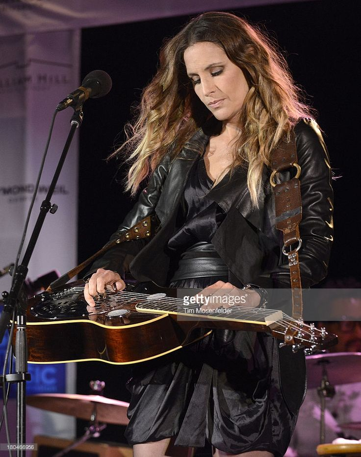 Emily Robison of Court Yard Hounds performs at a benefit for The VH1 Save The Music Foundation At William Hill Estate Winery on September 12, 2013 in Napa, California.