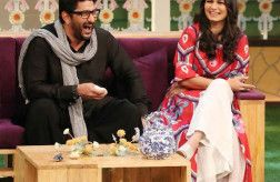 Photos: Arshad Warsi with wife Maria Goretti on The Kapil Sharma Show