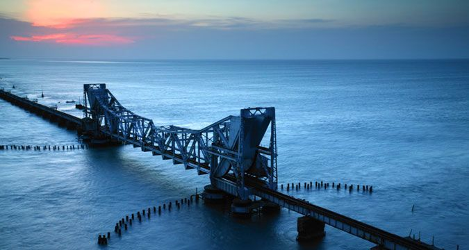 India's Pamban Bridge - It's like walking over the sea!  Second largest sea bridge in India, the 'Pamban Bridge' or 'Rameshwaram Bridge' 2,065 m long structure, connects Rameshwaram to the Indian mainland.  If you're visiting India, make sure you have this stunning, century old #seabridge on your visit list, it will leave you stunned! For travel inquiry to India, call (03) 9654 9529 or visit http://www.mayatravels.com.au/contact-us.html  #incredibleindia #wondersofindia #rameshwaram…