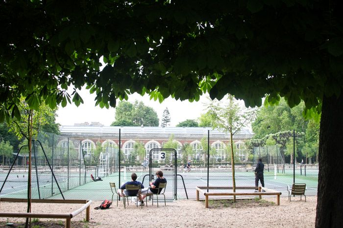 Tennis at the Luxembourg Gardens