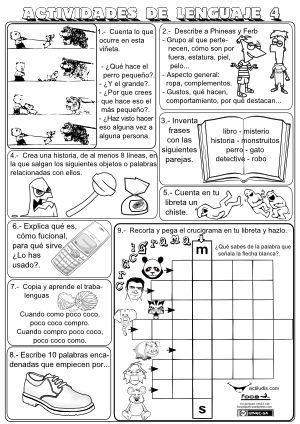 Expresión escrita - Actividades libreta lenguaje 4 y 5
