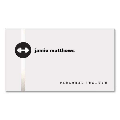 Personal Trainer Dumbbell Logo Fitness Instructor Business Card. Great card for trainers, gym owners, fitness instructors and more. Fully customizable and ready to order. customizable business cards | cheap business cards | cool business cards | Business card templates | unique business cards