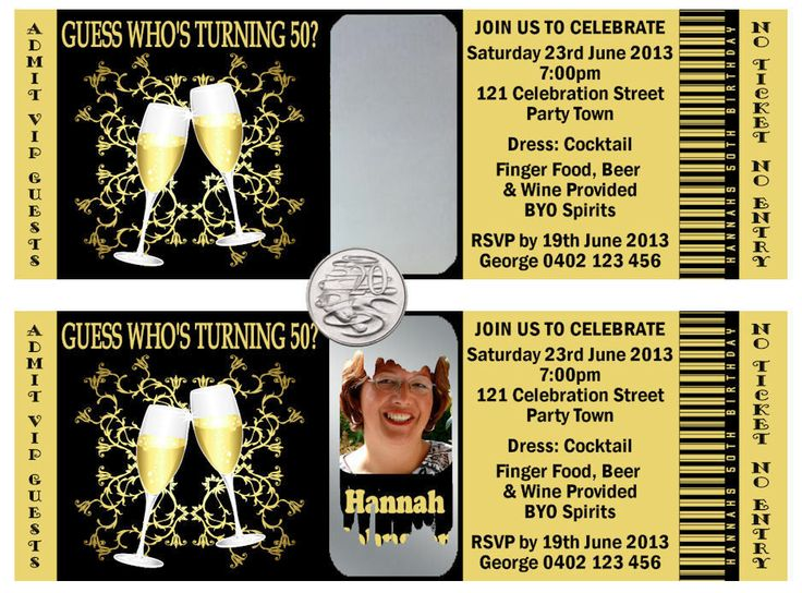 SCRATCH OFF TICKET STYLE BIRTHDAY INVITATIONS 21st 30th 40th 50th ANY AGE 10PACK
