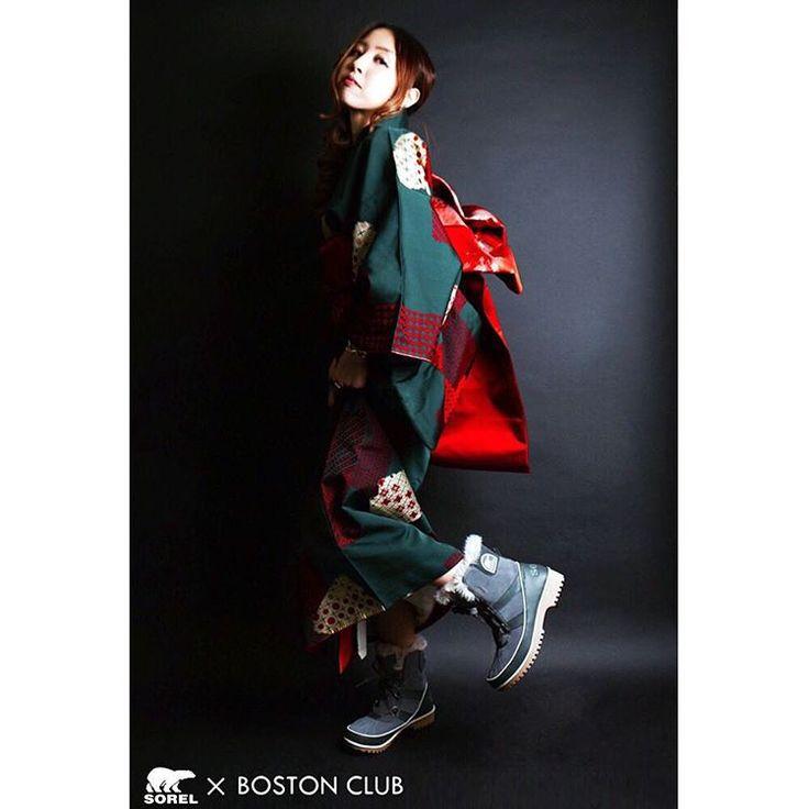"""「""""Tivoli II"""" 雨の日や雪の日こそ、外へ飛び出し、女の子らしさを思う存分発揮しましょう。 きっとその手助けをしてくれる筈です。 #sorel #ソレル #bostonclub #ボストンクラブ #着物 #浴衣 #yukata #kimono #スニーカー #sneakers #大阪 #osaka…」"""