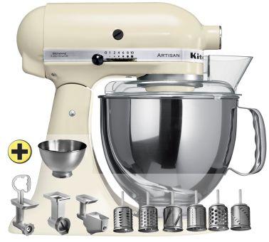 KitchenAid Artisan KSM150 Premium-Set, crème - 300 Watt Leistung Inkl. 10-teiliges Zubehörset. Jetzt günstig online kaufen.