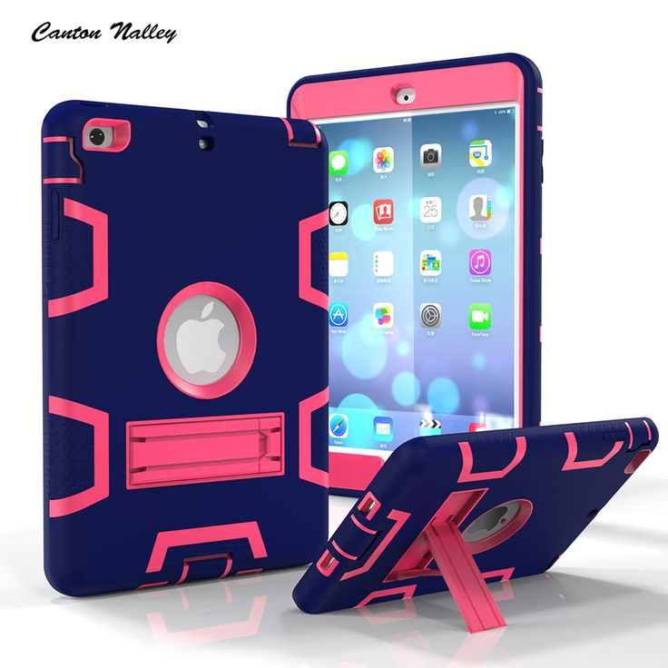 Canton Nalley Heavy Duty Shockproof Hybrid Rubber Rugged Hard Impact Protective Skin Case For iPad Mini/iPad Mini2/Mini3 Case