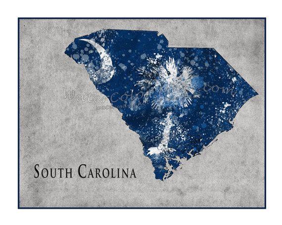 Love this! SOUTH CAROLINA Map,Charleston, South Carolina, Map of Charleston, SC, Carolina, Palmetto tree