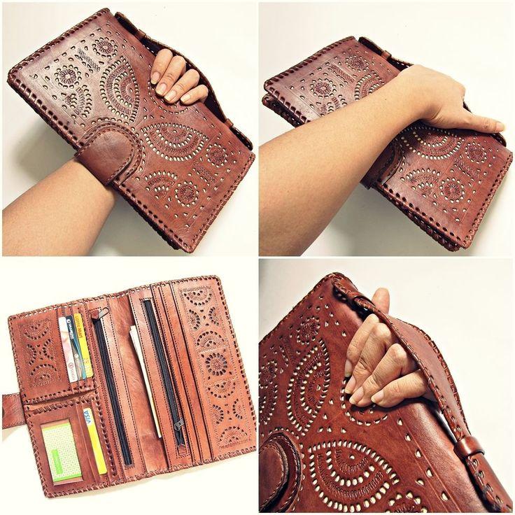 OWL Vintage Women Ladies Genuine Leather Big Wallet Phone Cards Travel Handbag #OWL #Bifold
