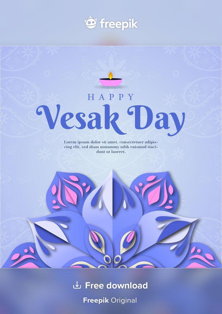 Download gradient vesak day illustration for free in 2021