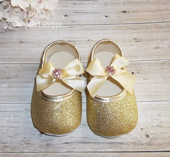 Gold 1st Birthday Outfit Gold Glitter Baby by SweetBabyGirlShoppe
