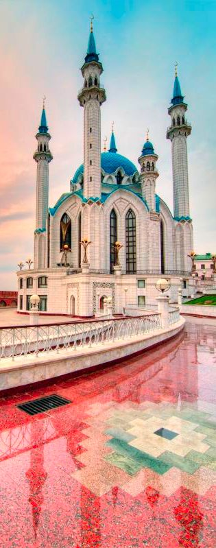 Qolsharif Mosque, Kazan, Russia- wow so uniquely stunning!