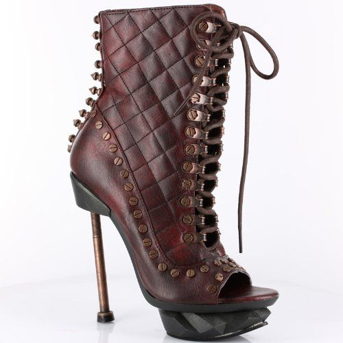 "awesome IXX 5"" Ankle Lace-Up Boot, Burgundy Thundra, Size 8"