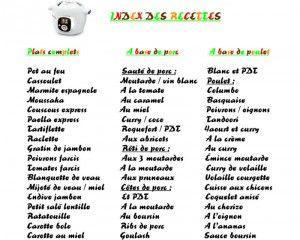 recettes cookeo pdf Plus