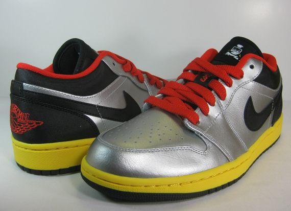 Air Jordan 1 Low   Metallic Silver   Black   Challenge Red   Tour Yellow