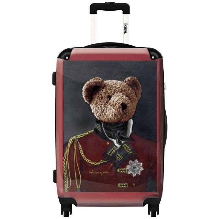 iKase 'Lulu Castagnette Officer' 24-inch .Hardside Spinner Luggage