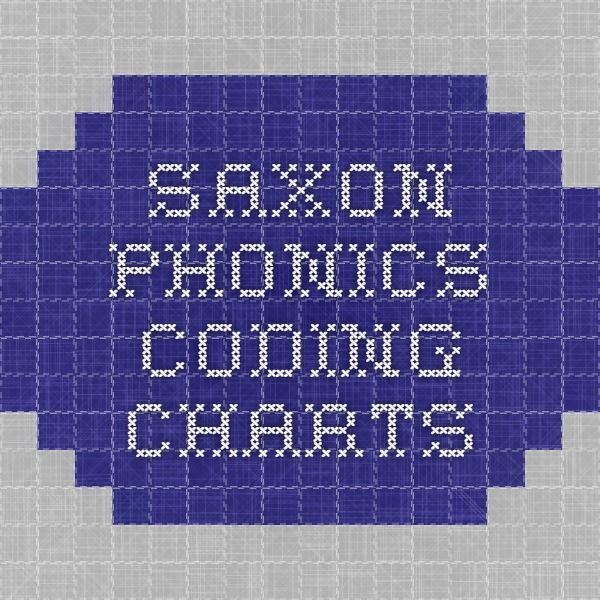 Saxon Phonics coding charts