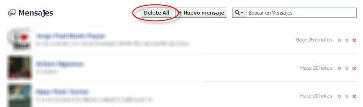 Como borrar todos los mensajes en el INBOX de Facebook con un solo Clic