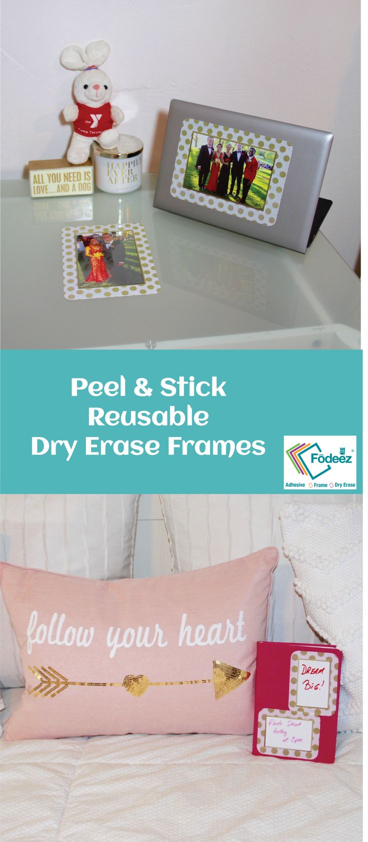 High Style Dorm Room Decorating These Self Stick Frames Work On All SMOOTH  Surfaces And Part 49