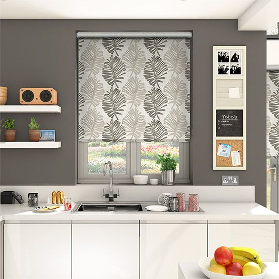 Choices Amazonia Ash Grey Roller Blind from Blinds 2go