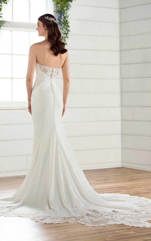 9f7cb93b336 D2597 Simple Wedding Dress with Shaped Train by Essense of Australia