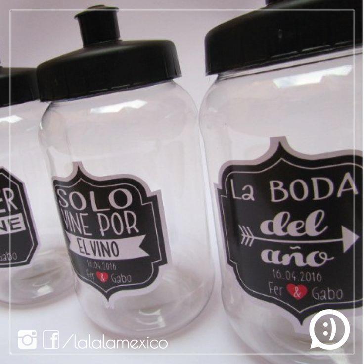 Termos personalizados Termos para boda con frases divertidas Síguenos en FB www.facebook.com/lalalamexico