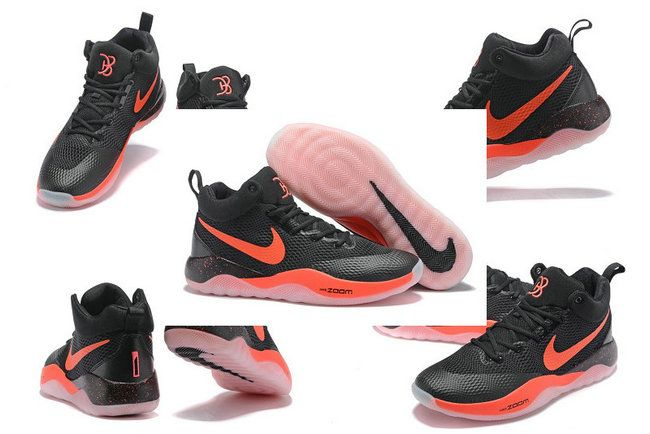 Free Shipping Only 69$ Nike Zoom Rev 2017 Devin Booker PE PHOENIX SUNS Black Max Orange