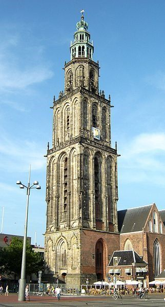 Martini Tower, Groningen. (Netherlands). First built in the 13th century