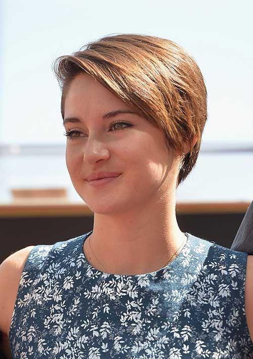 6.Shailene Woodley Kurzen Haarschnitt