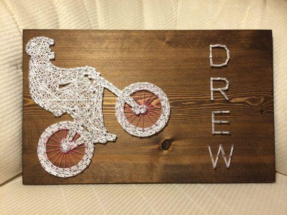 CUSTOM BMX Bike String Art by KiwiStrings on Etsy