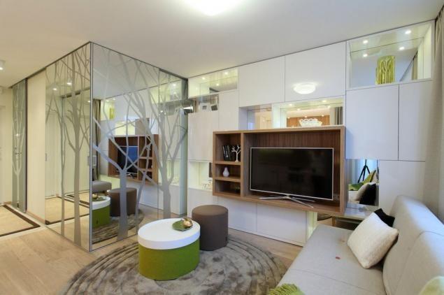 Mirrored concealed bedroom