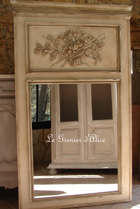13 best miroirs trumeaux mirrors shabby chic images on pinterest mirrors mirror mirror and. Black Bedroom Furniture Sets. Home Design Ideas