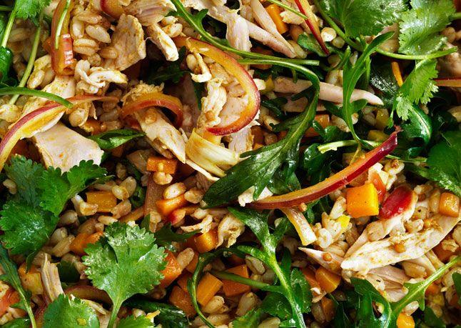 Curried Spelt Salad: Spelt Recipes, Salad Recipes, Healthy Dinner, Spelt Berries Recipes, Food Salads, Curried Spelt