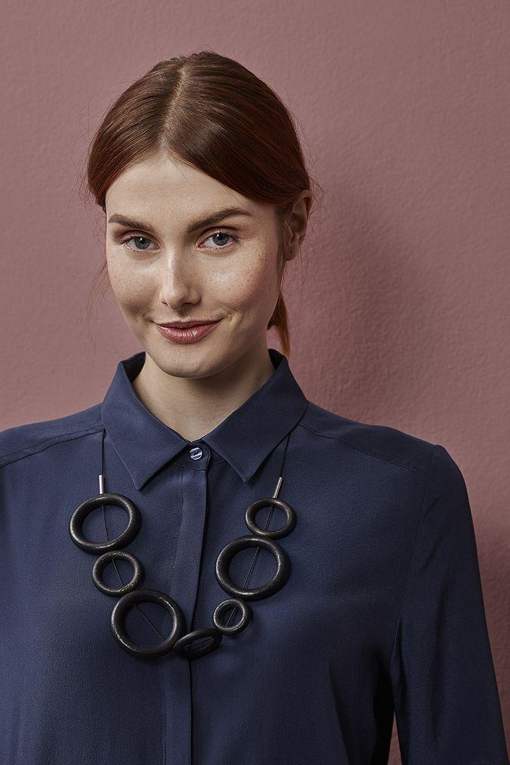 Hilla necklace design by Marianne Siponmaa. www.aarikka.com