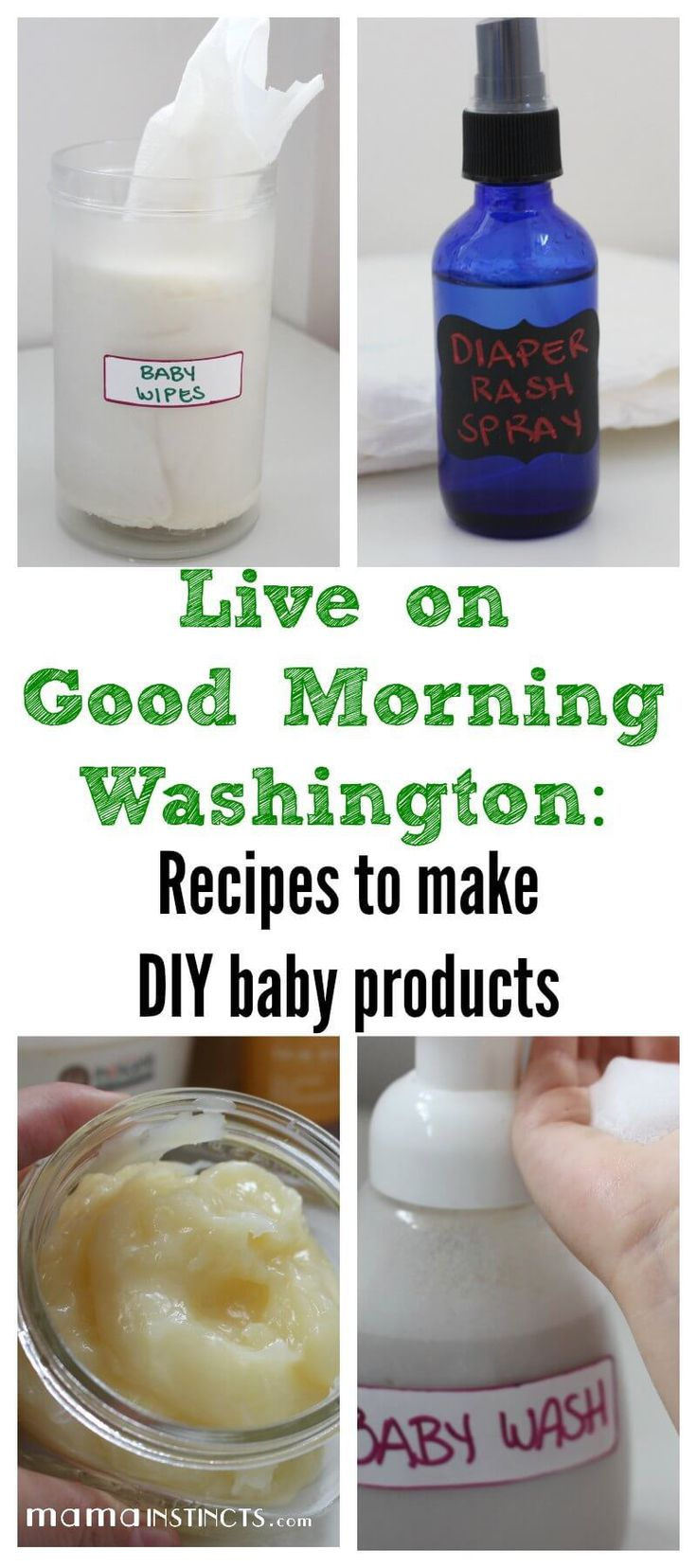4 Recipes to DIY Make Baby Products Baby lotion, Diaper