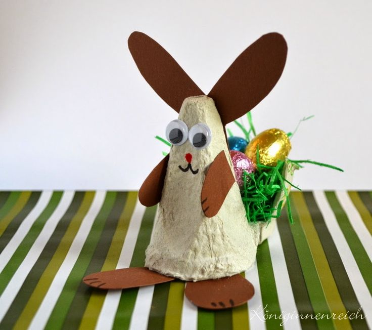 Häschen aus Eierkarton Bunny made from egg carton