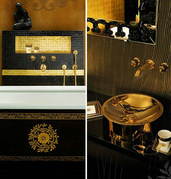 Luxury Black And Gold Bathrooms